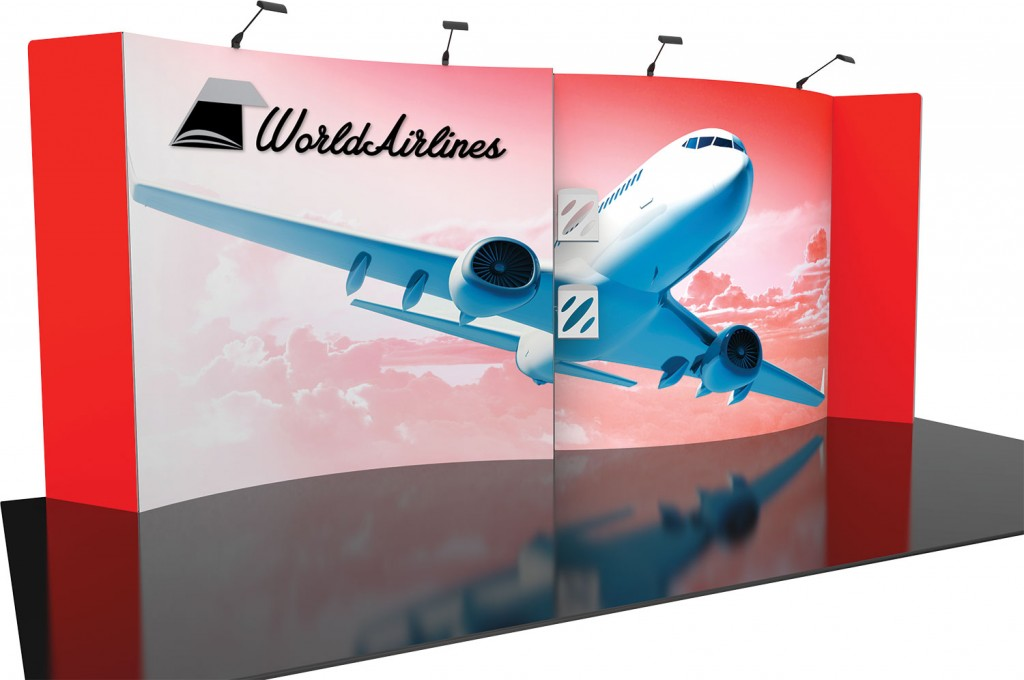 Fabric trade show displays